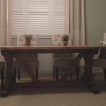 charles custom farmhouse harvest dining table
